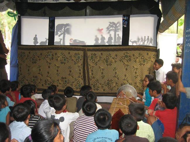 théâtre d'ombres à Siem Reap