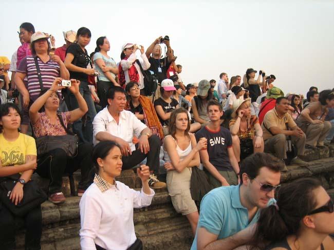 touristes à Angkor