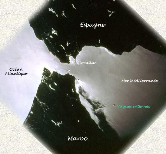 vagues internes détroit Gibraltar