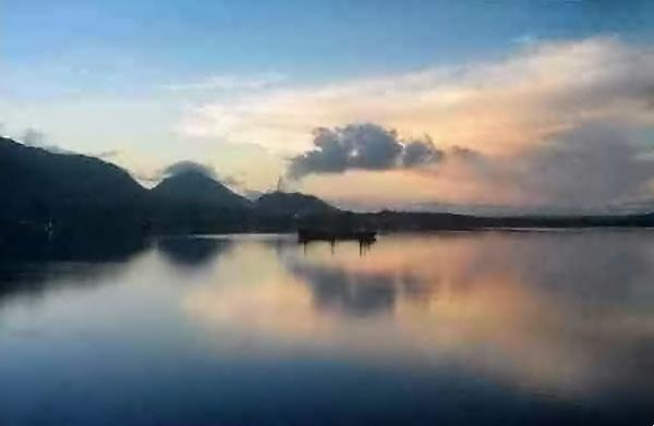 coucher de soleil à Rabaul
