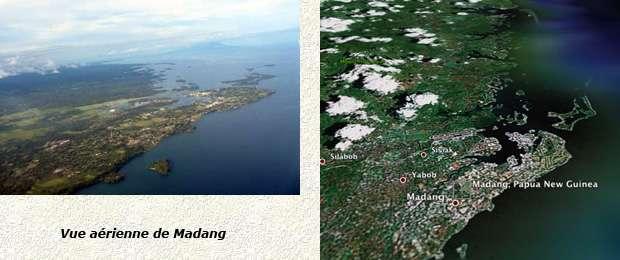 vue aérienne de Madang