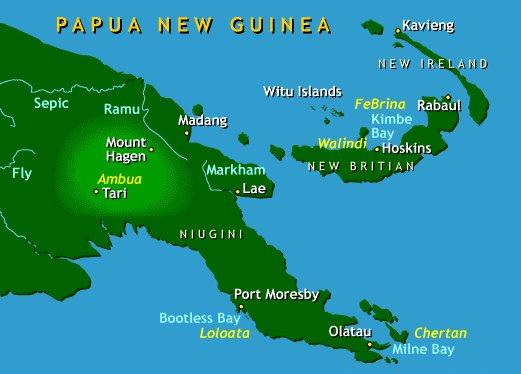 carte Nlle Guinée